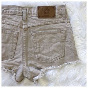 The London Jean | High-Waisted Cut-Off Shorts